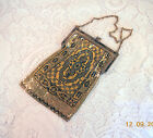 Striking 1920's Whiting and Davis Gold and Black Flapper Mesh Purse