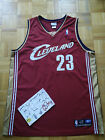 LeBron James Cleveland Cavaliers Away Rookie Year Reebok Authentic Jersey Men 48