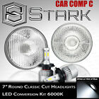 H6024 Head Light Glass Housing Lamp Classic Chrome 7 Round LED Convesion Kit A