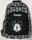 Disney Parks Disneyland Black  White Mickey Mouse Icons Backpack