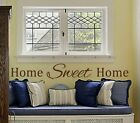 Home Sweet Home Wall Vinyl Decal Motivational Inspire Welcome Bedroom Love Kid