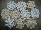 10psc Hand Crochet Doilies 5 White  Natural Vintage Wedding Tea Party NEW