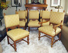 antique *8* HORNER OAK DINING ROOM CHAIRS  **RARE SET**
