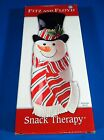 Fitz and Floyd Christmas Snowman Snack Therapy Dish Server 2005 NIB