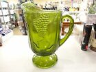 RARE Vintage AVOCADO GREEN GRAPE HARVEST WATER TEA PITCHER 10 1/2