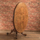 Antique Breakfast Oval Loo Table, Victorian Burr Walnut 4-6 seater, c.1850-60