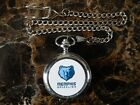 MEMPHIS GRIZZLIES BASKETBALL NBA CHROME POCKET WATCH WITH CHAIN (NEW)