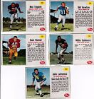 1962 Post football, lot of 10, inc. SP Horner. Good to EX-MT
