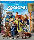 Disney Zootopia Blu Ray + DVD + Digital HD sloth Judy Hopps Nick Wilde NEW