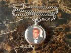 SEAN CONNERY (JAMES BOND) CHROME POCKET WATCH WITH CHAIN (NEW)