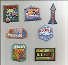 Girl Boy Scout Guides Patch Crest Badge SCIENCE ROCKS ROCKETS MATH your choice