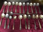 Lot Of 22 Soup Spoons Antique Vintage Mixed Patterns Age Sizes Crafts Jewelry