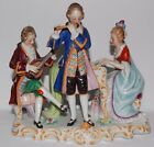 Antique large Dresden Germany figurines musician group stamped sitzendorf
