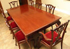 Chippendale Mahogany Dining room set.. Table w/8 Chairs ..carved