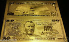 50 X 24Kt.^ GOLD ^GLITTER~ LUCKY $50.00  REP. * BANK NOTE Wd3a