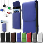 PU Leather Vertical Belt Case And Aluminium Headphones For T Mobile Dash 3G