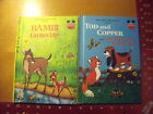 Bambi Grows Up and Tod and Copper From Fox&The Hound books 1979 1981 H B Disney