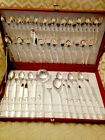 64 Piece Silver Plated Cutlery Set for 12 People with 4 Utensils - Italy / Mecca