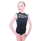 Adult Girls Ballet Leotard Practise Sleeveless OpenBack Dance Lace Bodysuit