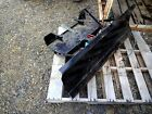 SNOW BLADE PLOW FOR WALKER MOWERS 48 WIDE W SKID SHOES GOOD CONDITION