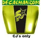 JEEP CJ5 CJ7 CJ8 BLACKOUT METAL MULISHA VINYL HOOD DECAL RENEGADE SCRAMBLER