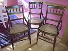 Antique Chairs (3) With Cane Seats