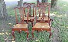 Claw Foot Rush seats Sesquientennial Chairs x4 1926