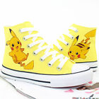 Anime Pokemon Go Pikachu Ankle High Tops Casual Canvas Shoes Unisex Sneakers New