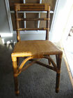 Important Vintage Chair Eames Cali Asia Bamboo Cane Rope Wicker OLD Unique Marks