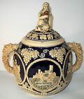 German Tureen Castle Scenes Bacchus Lid Double Handled Gerz, Marzi