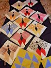BUTTERFLY QUILT SQUARES handsewn completed fabric blocks