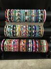USA 50 SET Nepal Rolls Glass Bead Bracelet crochet handmade bangle Random