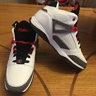 FUBU Mens Reed Basketball Mid Rise Shoe White Red Gray 9 10 105 New With Tags