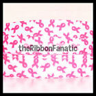 3 yds 5 8 Pink Ribbon on White Breast Cancer Awareness Grosgrain Ribbon