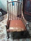 ANTIQUE SOLID OAK STYLE ROCKING CHAIR