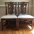 Set of four (4) Ethan Allen Georgian Court Chippendale Dining Room Side Chairs