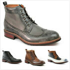 Brand New Mens Faux Leather Lace up Oxford Dress Ankle High Boots Shoes