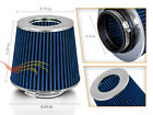 25 Cold Air Intake Dry Filter Universal BLUE For Geo Prizm Spectrum storm