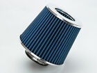 25 Cold Air Intake Dry Filter Universal BLUE For Geo Metro Tracker