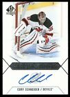 2015-16 SP AUTHENTIC SCRIPTED STOPPERS CORY SCHNEIDER ON CARD AUTO GRAPH SS-CS