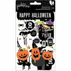 Pebbles BOO Collection Halloween CHIPBOARD STICKERS Jack o Lantern Black Cat