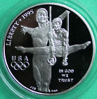 1995 Olympics Gymnast Proof 90 Silver Dollar Commemorative US Mint Coin ONLY