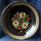 Late 19th century French Soufflenheim polychromed floral glazed redware charger