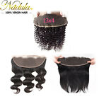13x4 Lace Frontal Closure 7A Malaysian Curly/Wavy/Straight Human Hair Ear to Ear