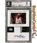 2003-04 Lebron James Upper Deck Exquisite RC Rookie Patch Auto 73 99 BGS 9 with