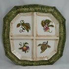Fitz and Floyd Vista Bella Large Serving Tray 4 Sections 16X16 Green Veggies