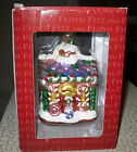 Fitz and Floyd Gingerbread House Blown Glass Christmas Tree Ornament in Box