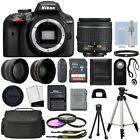 Nikon D3400 Digital SLR Camera Black + 3 Lens 18 55mm Lens + 16GB Bundle
