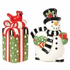 Frosty's Frolic Snowman Collection, Salt and Pepper Set, Red/White