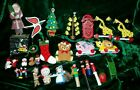 Vintage Lot 26 Wooden Christmas Tree Ornaments Santa Snowman Soldiers Musicians